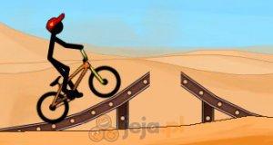 Patyczak na BMX-ie