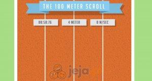 100 metrów scrollowania