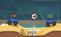Piłka nożna z monster truckami