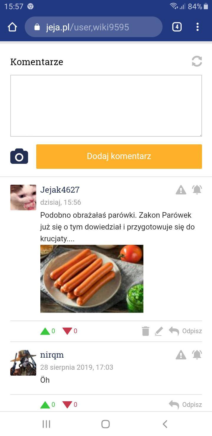Zdjęcie użytkownika Jejak4627 w temacie Polowania na antyparówkowiczów