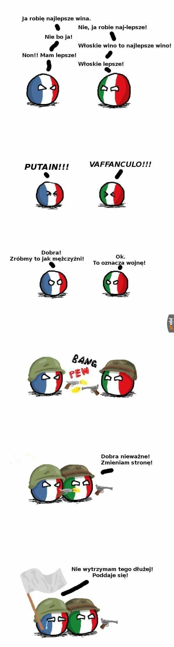 Gdy Francja kłóci się z Włochami