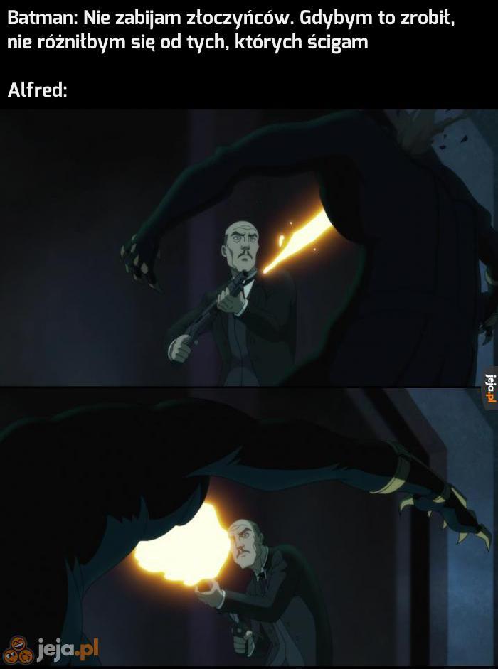 Alfred nie bawi się w morały