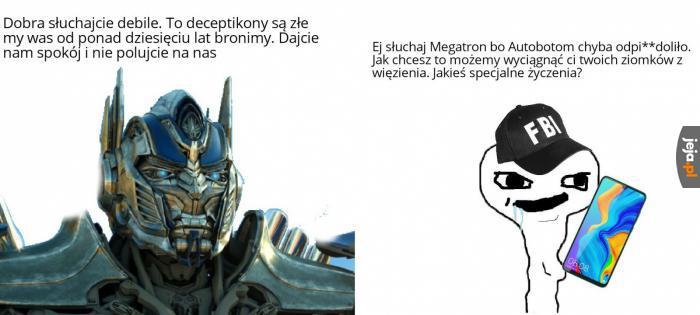 Logika gatunku ludzkiego w filmach Transformers