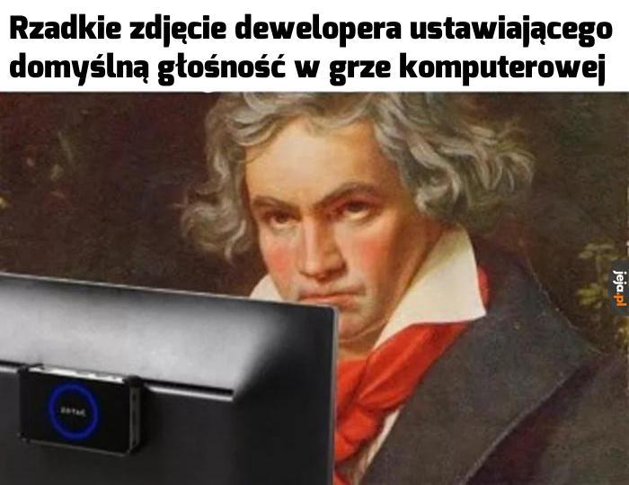 Beethoven słuchem nie grzeszył