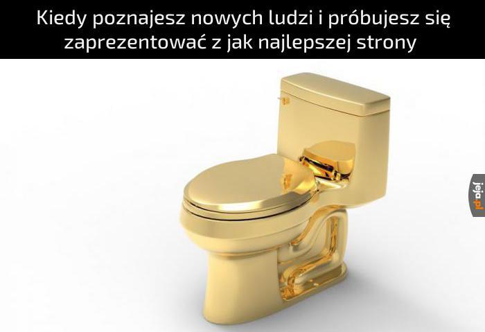 Złoty... ale jednak sedes