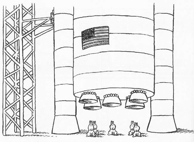 Samobójstwa zajączka: Zajączek i rakieta