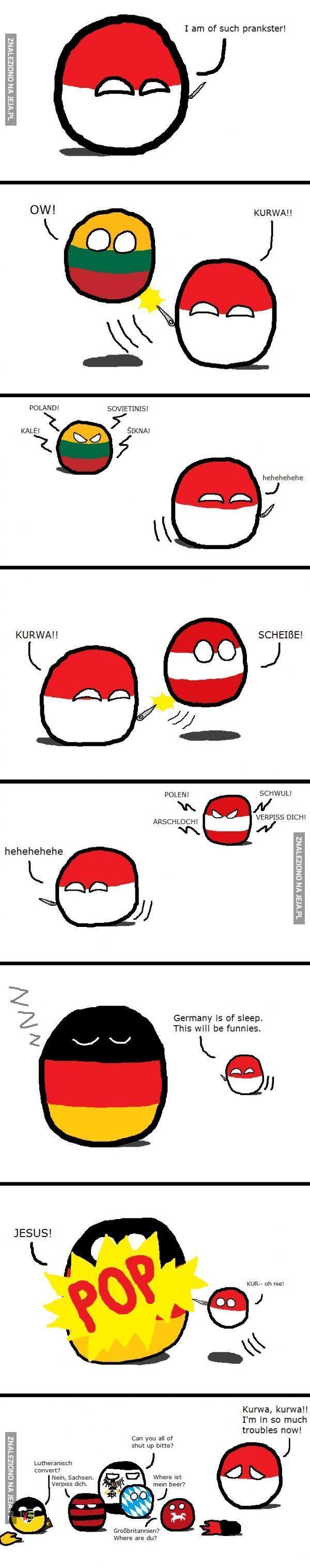 Polandball jest niezłym kawalarzem