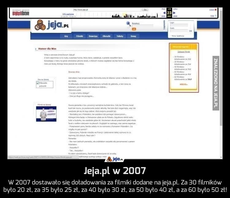 Jeja.pl w 2007