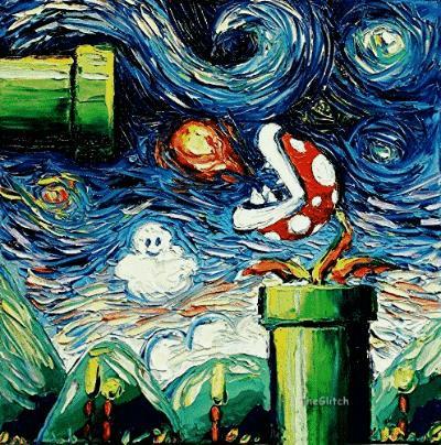 Mario w klimacie impresjonistycznym