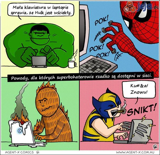 Superbohaterowie i problemy z internetem