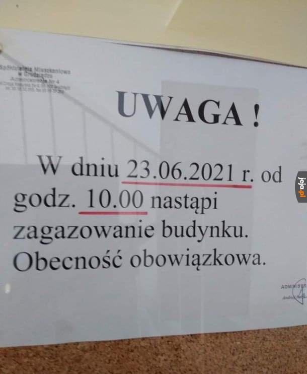 Tymczasem gdzieś w Polsce, aczkolwiek obstawiam Oświęcim