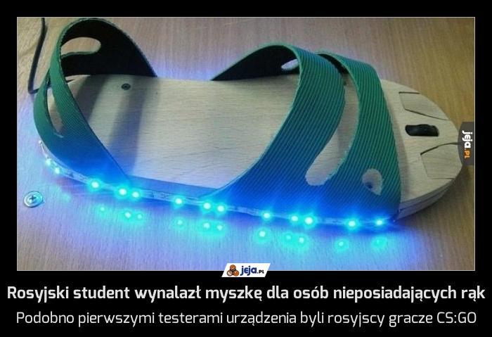 Rosyjski student wynalazł myszkę dla osób nieposiadających rąk