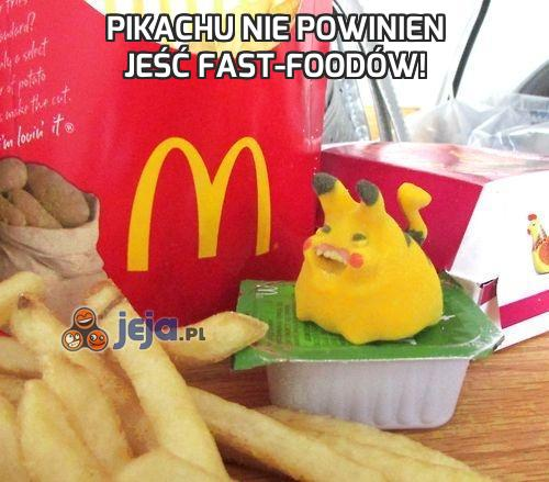 Pikachu nie powinien jeść fast-foodów!