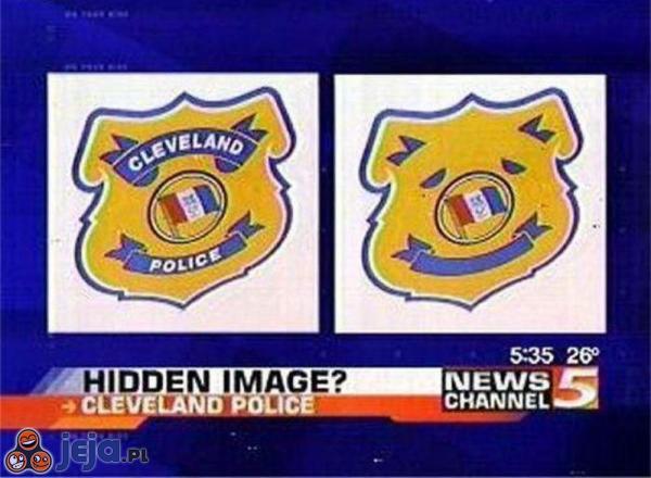 Ukryty obraz w policyjnym logo