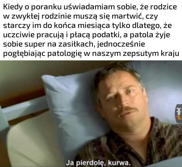 Normalny dzień w Polsce zobaczmy wiadomości TVP hmm...strajki lewaków...