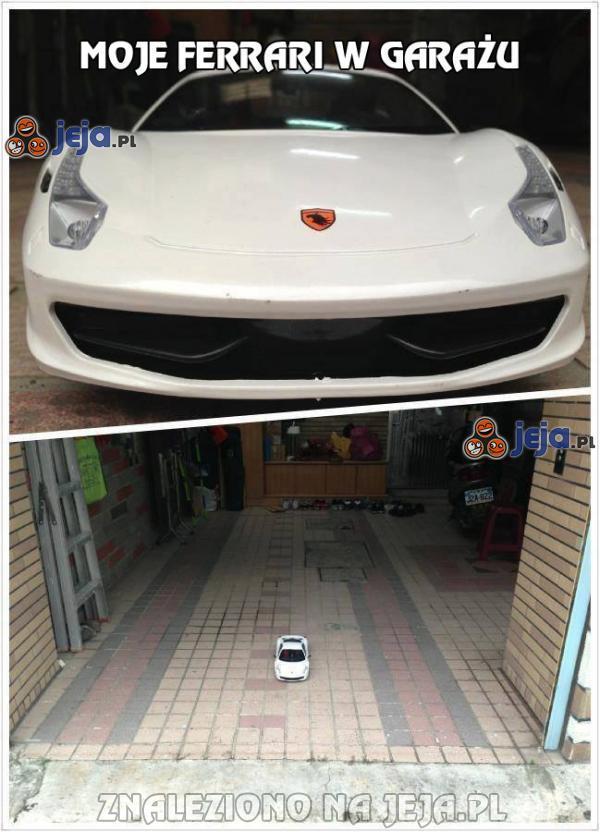 Moje Ferrari w garażu
