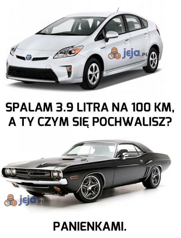 Samochody mają różne zalety...