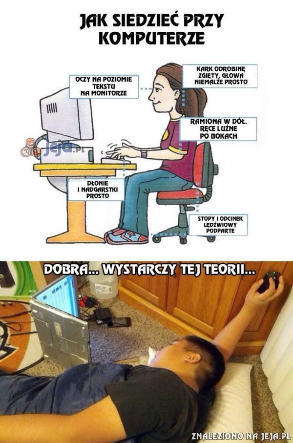 Prawidłowa pozycja podczas pracy przy komputerze, czyli jak siedzieć, by nas nic nie bolało