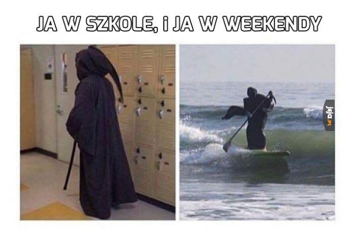 Szkoła i weekend