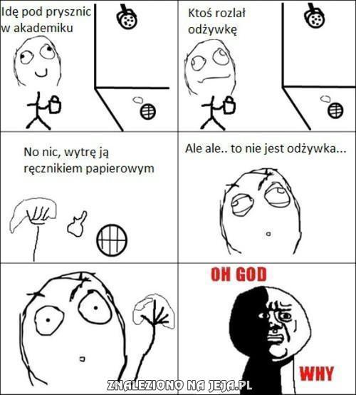 Prysznice w akademiku...