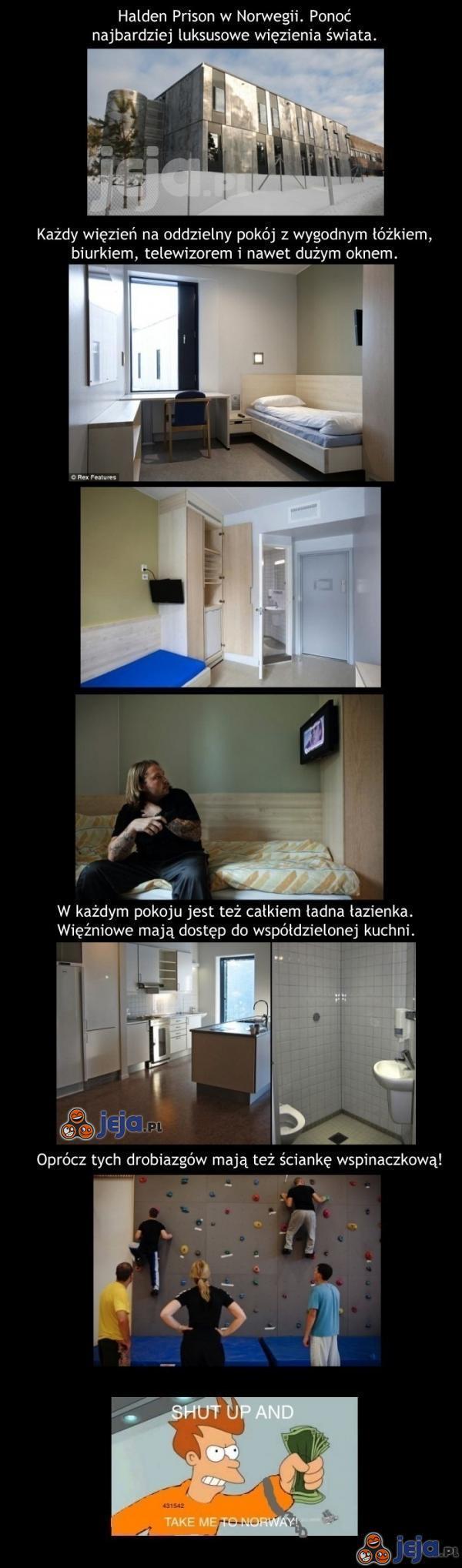 Luksusowe więzienie w Norwegii - Halden Prison