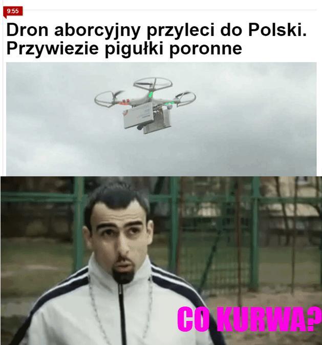 Dron abor... co?!