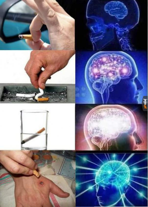 Gaszenie papierosa