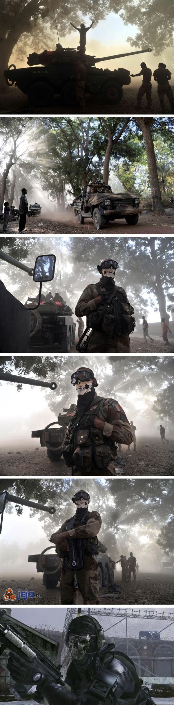 Francuski żołnierz w bandanie z Call of Duty