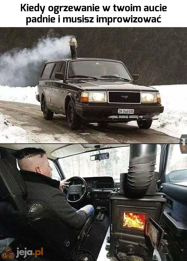 Dorzucę węgla, bo chłodno się robi
