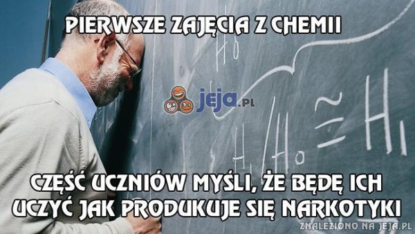 Pierwsze zajęcia z chemii