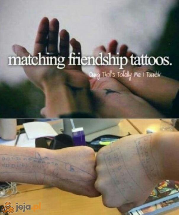 Tatuaże przyjaźni