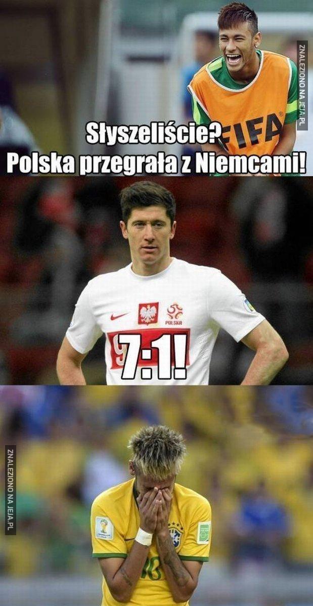 Po przegranym meczu z Niemcami...