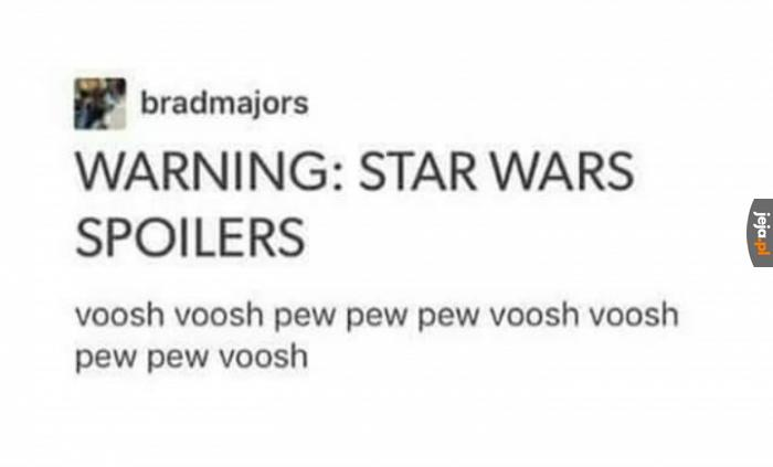 Uwaga, spoiler z Last Jedi!