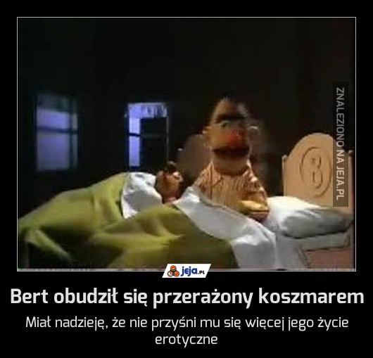 Bert obudził się przerażony koszmarem