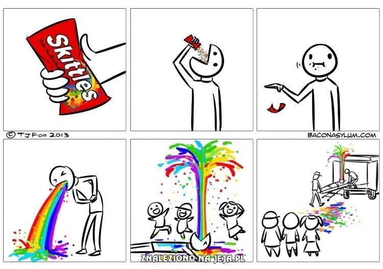 Uważaj ze Skittles'ami
