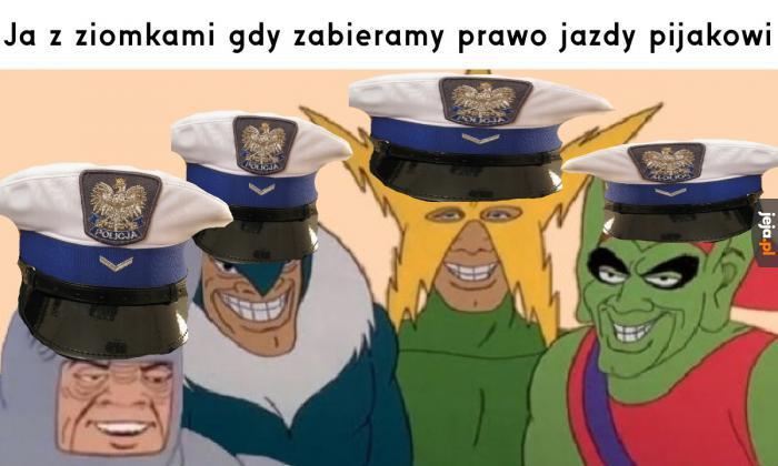 Typowa polska drogówka