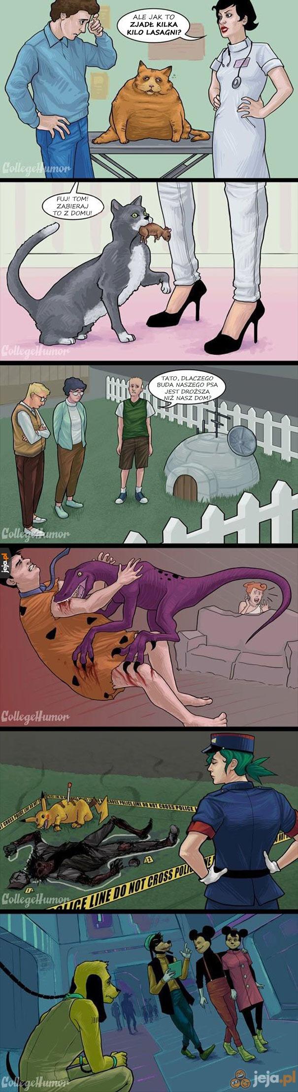 Kreskówki w prawdziwym życiu