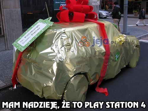 Mam nadzieję, że to Play Station 4