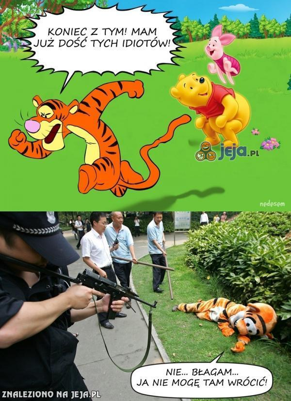 Tygrysek ucieka