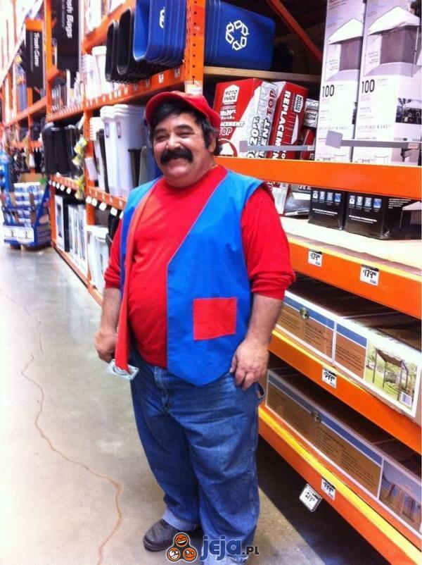 Mario też chodzi do sklepu