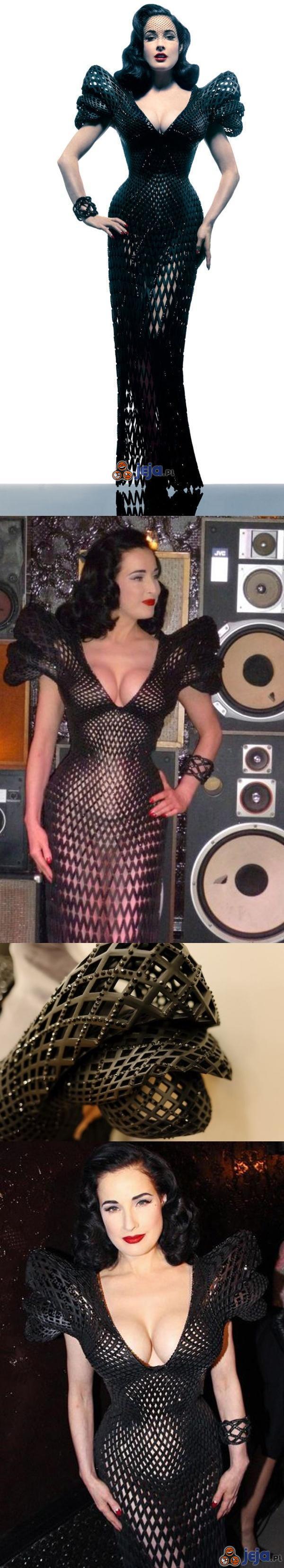 Pierwsza na świecie sukienka wykonana metodą druku 3d