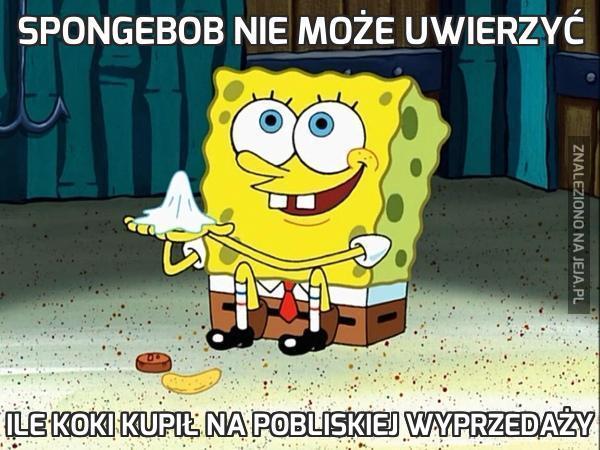 SpongeBob nie może uwierzyć