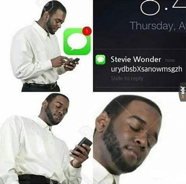 Sms od Steve Wondera