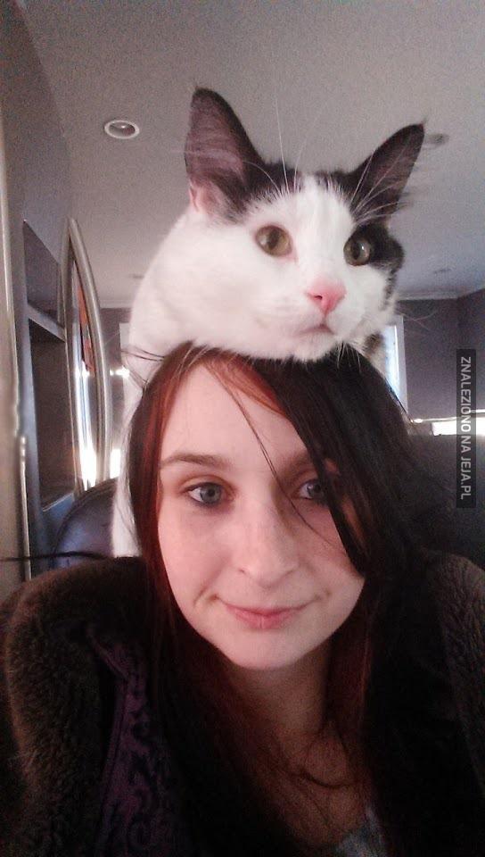 Moja nowa czapka - 100% zawartości kota