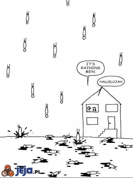 It's raining men