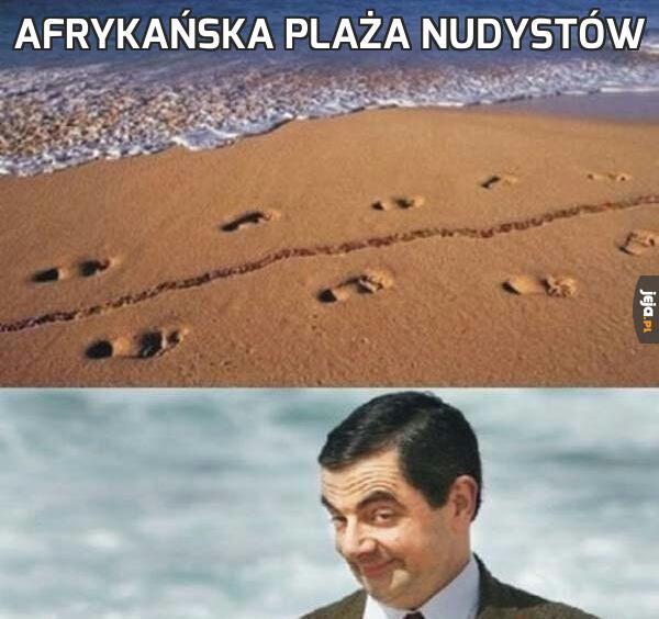 Afrykańska plaża nudystów