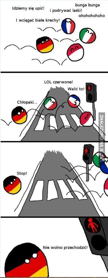 Niemcy zawsze przestrzegają zasad