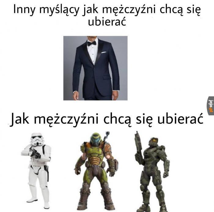 Idealny strój dla mężczyzny