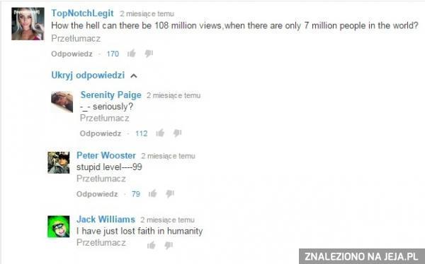 Powoli tracę wiarę w ludzkość...