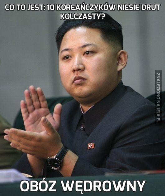 Co to jest: 10 Koreańczyków niesie drut kolczasty?